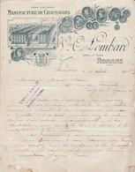 Chaussures : Manufacture De Chaussures : Vve O. LOMBARD - 1908 - Romans Sur Isère - Drome ( 21cm X 27cm ) - Textile & Clothing