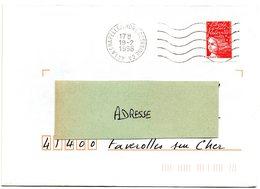 LOIRE ATLANTIQUE  - Dépt N° 44 = LA CHAPELLE / ERDRE GESVRINE GA 1998 =  FLAMME SECAP Muette '5 Lignes Ondulées' - Postmark Collection (Covers)