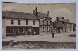 Cpa Hallencourt, Somme, La Poste, Café De L'avenir, écrite En 1918 - France
