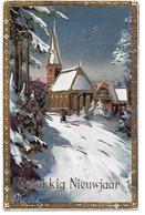 Church, Kirche, église, In Snow, Im Schnee, Dans La Neige, Moon And Stars, Lune Et étoiles / Golden Details - Anno Nuovo