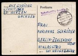A5942) SBZ Karte Barfrankatur Wiehe 13.10.45 N. Berlin-Zehlendorf - Sowjetische Zone (SBZ)
