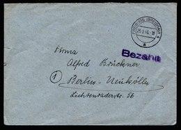 A5943) Kontrollrat Brief Barfrankatur Freiburg 25.03.46 Stempel Bezahlt - Gemeinschaftsausgaben
