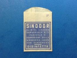 PUBBLICITÀ BUSTINA PUBBLICITARIA DISINFETTANTE SINODOR BIANCHERIA CANDEGGINA - Pubblicitari