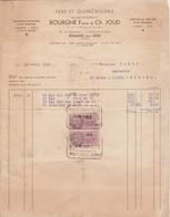 Fers Et Quincaillerie : BOURGNE Frères Et CH. JOUD : - 1939 -  Romans-sur-isère - Drome ( 27cm X 21cm ) - Andere