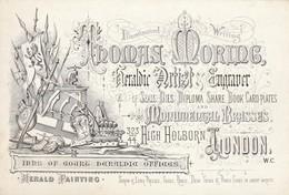Trade Card  Thomas Morine Heraldic Artist Engraver  LONDON  Etc33 - Trade Cards