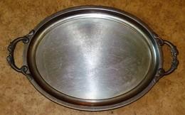 GRAND PLATEAU  En Inox Satiné 18/10 ème JEAN COUZON ANSES POISSONS 55 X 35 Cm - Dishes