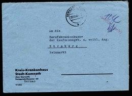 A5944) Bizone Brief Barfrankatur Kemnath Stempel Rot Gebühr Bezahlt - Bizone