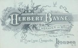 Trade Card  Herbert Bayne Wood Engraver LONDON  Etc36 - Trade Cards
