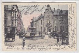 Beuthen O.-S. Bahnhofstrasse - 1907 Bahnpost Breslau-Kattowitz - Schlesien