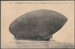 Le Dirigeable America, Expédition Du Pôle Nord, 1908 - J Hauser CPA - Dirigibili