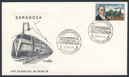 Spain Espana 1975 Cover Brief Enveloppe - Exp. Filatelica, Zaragoza / Phil. Ausstellung / Philatelic Exhibition - Treinen