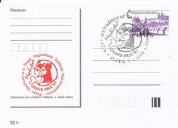 J0879 - Tchécoslovaquie / Entiers Postaux (1992) Plzen 1: Tournoi International D'échecs Mephisto GRAND PRIX '92 (rouge) - Scacchi