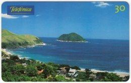 BRASIL D-837 Magnetic Telefonica - Landscape, Coast - Used - Brasilien