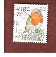 IRLANDA (IRELAND) - SG 1053 - 1997   BIRDS: ERITHACUS RUBECULA  - USED - 1949-... Repubblica D'Irlanda