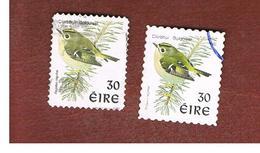 IRLANDA (IRELAND) - SG 1086  - 1998   BIRDS: REGULUS REGULUS (2 DIFFERENT PERFORATIONS)  - USED - 1949-... Repubblica D'Irlanda