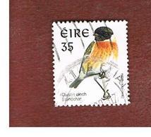 IRLANDA (IRELAND) - SG 1054  - 1998   BIRDS: SAXICOLA TORQUATA    - USED - 1949-... Repubblica D'Irlanda