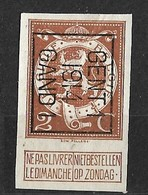 Gent 1914 Ongetand Typo Nr. 51B - Vorfrankiert