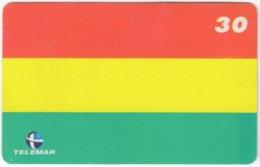 BRASIL H-241 Magnetic Telemar - Flag Of Bolivia - Used - Brasilien