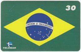 BRASIL H-242 Magnetic Telemar - Flag Of Brasil - Used - Brésil