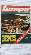 1979 TEMPO YUGOSLAVIA SERBIA SPORT FOOTBALL MAGAZINE NEWSPAPERS Marijan Benes V Gilbert Cohen BOX BOXING SKIING PLANICA - Deportes