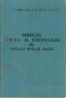 Romania, 1954, Syndicates Union Member Card RPR - Revenue Fiscal Stamps / Cinderellas - Historische Dokumente