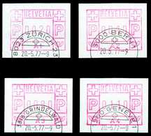 SCHWEIZ ATM Nr 1A1-1A4 Gestempelt X556D16 - Timbres D'automates