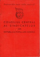 Romania, 1959, Syndicates Union Member Card RPR - Revenue Fiscal Stamps / Cinderellas - Documents Historiques