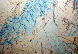 17 LA TREMBLADE LA SEUDRE RIBEROU PLAN DU PORT ET DE LA VILLE  EN 1886  DE L'ATLAS DES PORTS DE FRANCE 49 X 66 Cm - Cartas Náuticas