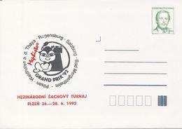 J0882 - Tchécoslovaquie / Entiers Postaux (1992) V. Havel: Torneo Internazionale Di Scacchi Mephisto GRAND PRIX '92 - Echecs