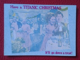 POSTAL POST CARD MARGARET TATCHER POLITIC POLITICAL SATIRE HAVE A TITANIC CHRISTMAS BRITAIN ON THE ROCKS RATS RAT CARTE - Sátiras
