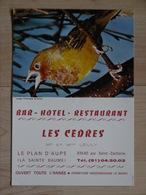 CALENDRIER 1977 BAR HOTEL RESTAURANT LES CEDRES LE PLAN D AUPS LA SAINTE BAUME SAINT ZACHARIE - Calendriers