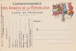 """Carte FM """"7 Drapeaux"""" (Stern) Modèle A2 Pour Soldats Au Dépôt De Corps. Neuve - Postal Stamped Stationery"""