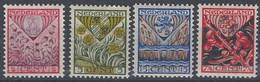 Holanda  195/198 * Charnela. 1927 - Periodo 1891 – 1948 (Wilhelmina)