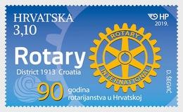H01 Croatia 2019 90 Years Of Rotary In Croatia MNH Postfrisch - Croacia