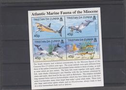 TRISTAN DA CUNHA (GRANDE BRETAGNE) 4 T Neufs Xx - Faune Marine Du Myocene - Tristan Da Cunha