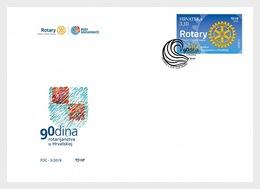 H01 Croatia 2019 90 Years Of Rotary In Croatia FDC - Croacia