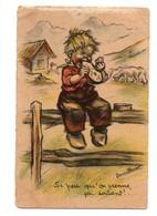 CPA Germaine Bouret Si Peu Qu'on Prenne ça Soutient Enfant Moutons - Bouret, Germaine