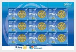 H01 Croatia 2019 90 Years Of Rotary In Croatia  Sheetlets - Croatia