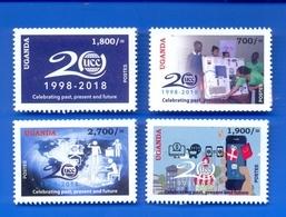 UGANDA 2019 New Stamps Issue 20 Years UCC Uganda Communication Commission 1998 - 2018  OUGANDA - Uganda (1962-...)
