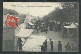 Gard.   Nîmes Boulevard De La République, La Foire De La Saint Michel - Nîmes