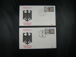 """BELG.1977 1867 FDC's  ( Antwerpen & Bruxelles  ) :  """" Europalia 77 """" - FDC"""