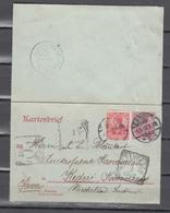 DR 1902,Ganzsache,kartenbrief Mit Stempel Erfurt Und Weltevreden (Ned Indie),LESE.gebraucht(D2666) - Lettres & Documents