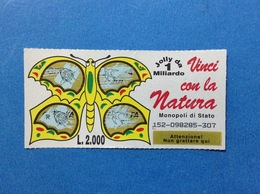 GRATTA E VINCI USATO L. 2000 VINCI CON LA NATURA FARFALLA GIALLA - Biglietti Della Lotteria