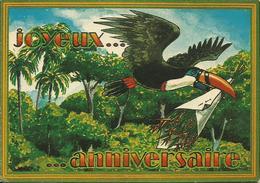 CARTE POSTALE PORTEFEUILLE - GUYANE - Joyeux Anniversaire - Production Pierre DUBOIS - Autres