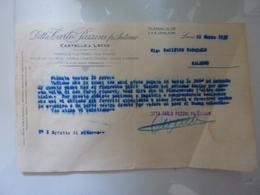 """Lettera Commerciale """"Ditta CARLO PAZZINI Fu ANTONIO Fabbriche Filo Ferro,etc,  CASTELLO DI LECCO"""" 12 Marzo 1935 - Italie"""