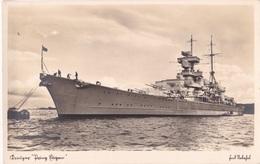 """Alte Ansichtskarte Kreuzer """"Prinz Eugen"""" 2 - Weltkrieg 1914-18"""