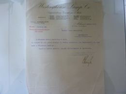 "Lettera Commerciale ""WESTINGHOUSE LAMP Co. Milano"" 1915 - Italia"