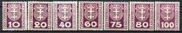 DANTZIG - (Ville Libre) - 1921-23 - Taxe - N° 1 à 14 - (Lot De 14 Valeurs Différentes) - Dantzig