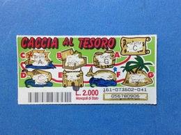 BIGLIETTO LOTTERIA GRATTA E VINCI USATO L. 2000 CACCIA AL TESORO - Biglietti Della Lotteria