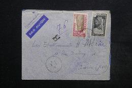 RÉUNION - Enveloppe En Recommandé De Saint Denis Pour Paris En 1938 , Affranchissement Plaisant - L 24448 - Reunion Island (1852-1975)